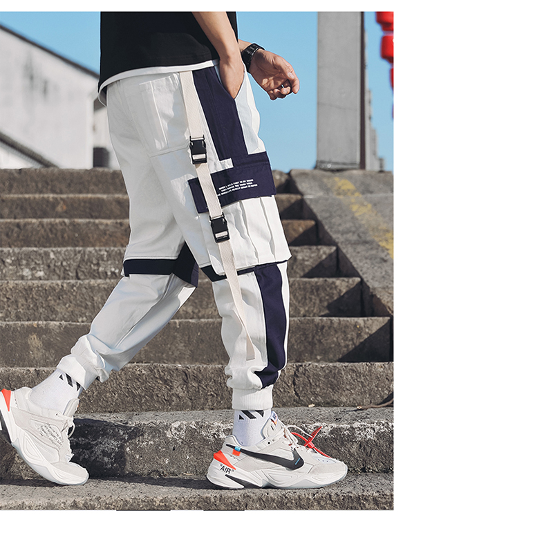 Men 39 s Multi Pockets Cargo Harem Pants Hip Hop Casual Male Track Pants Joggers Trousers Fashion Harajuku Hipster Streetwear Pants in Cargo Pants from Men 39 s Clothing