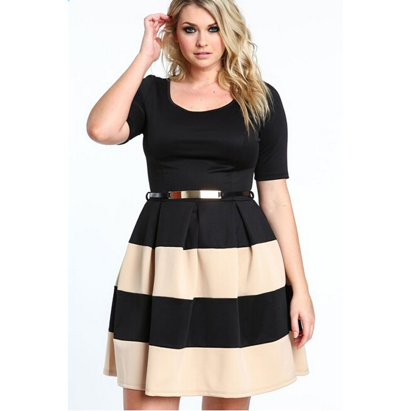 0b797cbf635 Russian style 2016 plus size women clothing women s casual new spring and  summer Mini Striped dress O neck women dresses