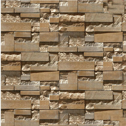 3d stone brick wall paper grey luxury wallpaper for living for Papel decorativo para pared