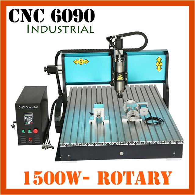 JFT Industrial Woodworking Equipment 4 Axis 1500W CNC Milling Machine with USB Port Hot Sale Engraving Machine 6090