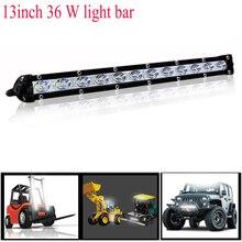 hot deal buy 72w 10-48v 13 inch car lights led bar work light bar offroad motorcycle foglights spotlight for boats atv utv suv pickup truck