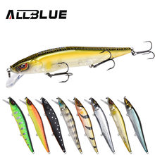 ALLBLUE MIHAWK 110SF Jerkbait Fishing Lure 110mm 14.1g Slow Floating Wobbler Minnow Bass Pike Bait Fishing Tackle MUSTAD Hooks(China)