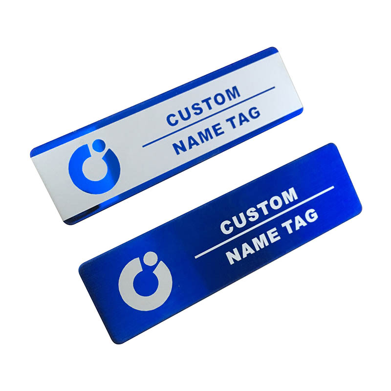 10pcs custom name tag personalized name badge id business laser name plate badge with magnet or pin  (32)