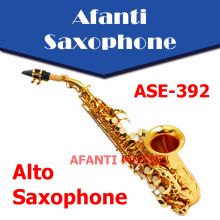 Afanti Music Bb tone / Brass body / Gold finish Alto Saxophone (ASE-392)