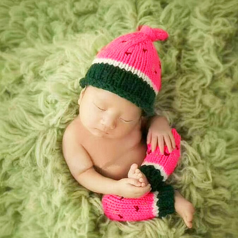 <font><b>Baby</b></font> <font><b>photo</b></font> props newborn photography watermelon costume <font><b>new</b></font> <font><b>born</b></font> fotografie infant <font><b>clothes</b></font> toddler beanie studio shoot outfits image