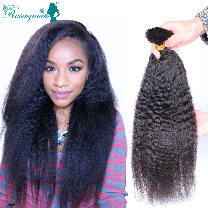 Brazilian Kinky Straight Bulk Hair For Braiding Human ...