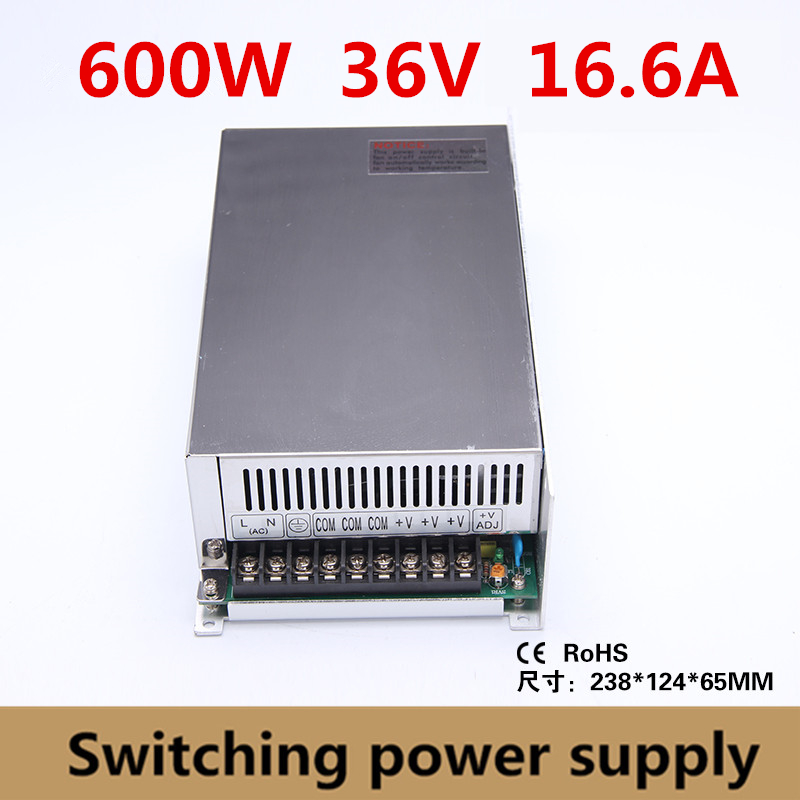 High Quality 600W 36v 16.6A Switching Power Supply Driver Adapter Voltage Transformer for Led Strip Light, industry 110V/220VHigh Quality 600W 36v 16.6A Switching Power Supply Driver Adapter Voltage Transformer for Led Strip Light, industry 110V/220V
