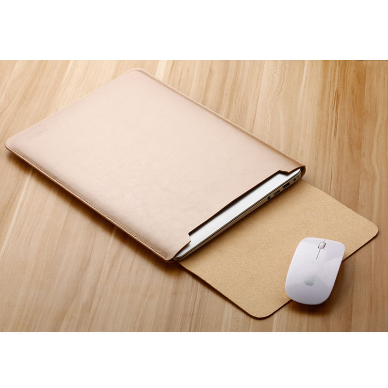 Image 2 - Notebook Case Mouse Pad Pouch For Xiaomi Macbook Air 11.6 12 13 Cover Retina Pro 13.3 15 15.6 Fashion Laptop Sleeve Leather Bag-in Laptop Bags & Cases from Computer & Office