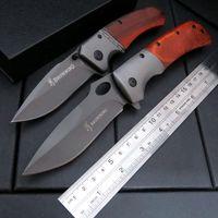 Hot Sale DA62 Folding Knife Pocket Hunting Camping Diving Knife Survival Outdoor Tool Knife Steel Wood