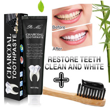 Nature Bamboo Activated Charcoal Toothpaste Teeth Whitening Removes Stains Black Toothpaste Oral Hygiene 100g цена
