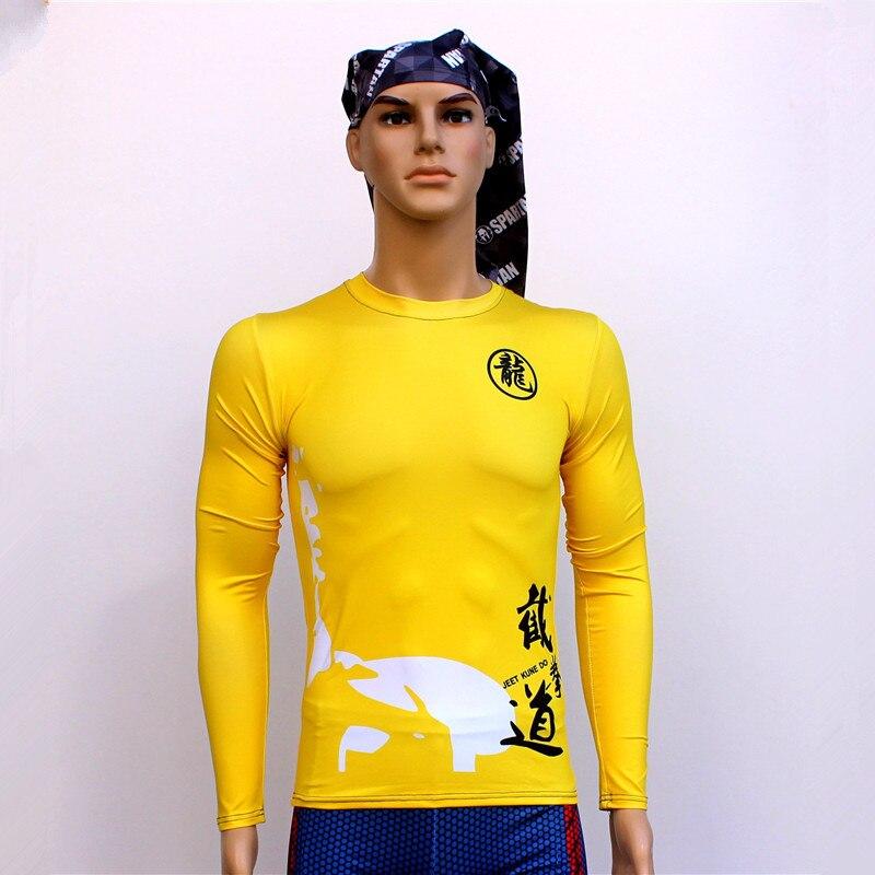 Quick dry short sleeved T-shirt movement Long Tights Sports Wushu Bruce Lee T-shirt