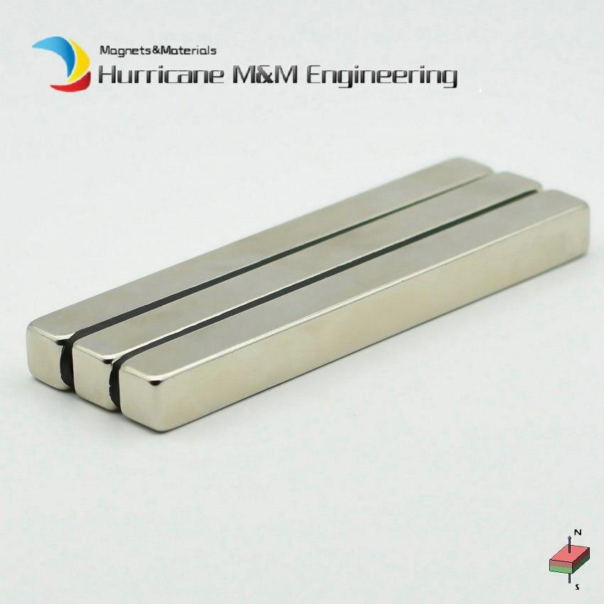 2-100pcs NdFeB Block 100x10x10 mm Long Bar Strong Neodymium Permanent Magnets Rare Earth Industry Magnet Grade N52 NiCuNi Coated the long war long earth 2