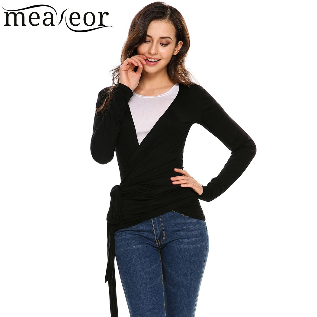 Meaneor Women Cardigan Casaco Casual Solid Long Sleeve Front Two Bandage Elastic Cardigan Spring summer Feminino Vestidos