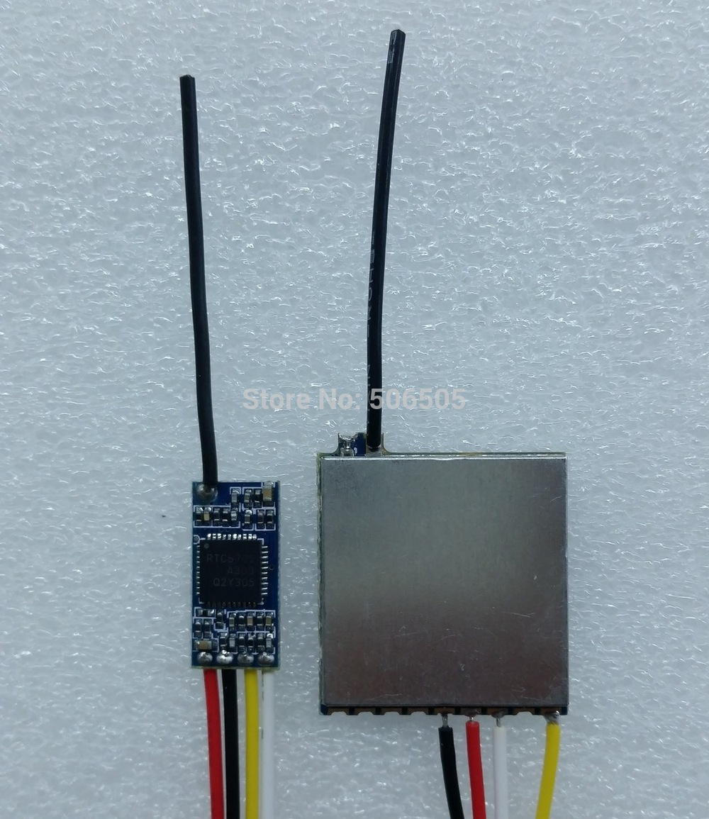 Mini 4 Channels 5.8Ghz Wireles Audio And Video Transmitter With Receiver Module 5.8Ghz Video Sender Module