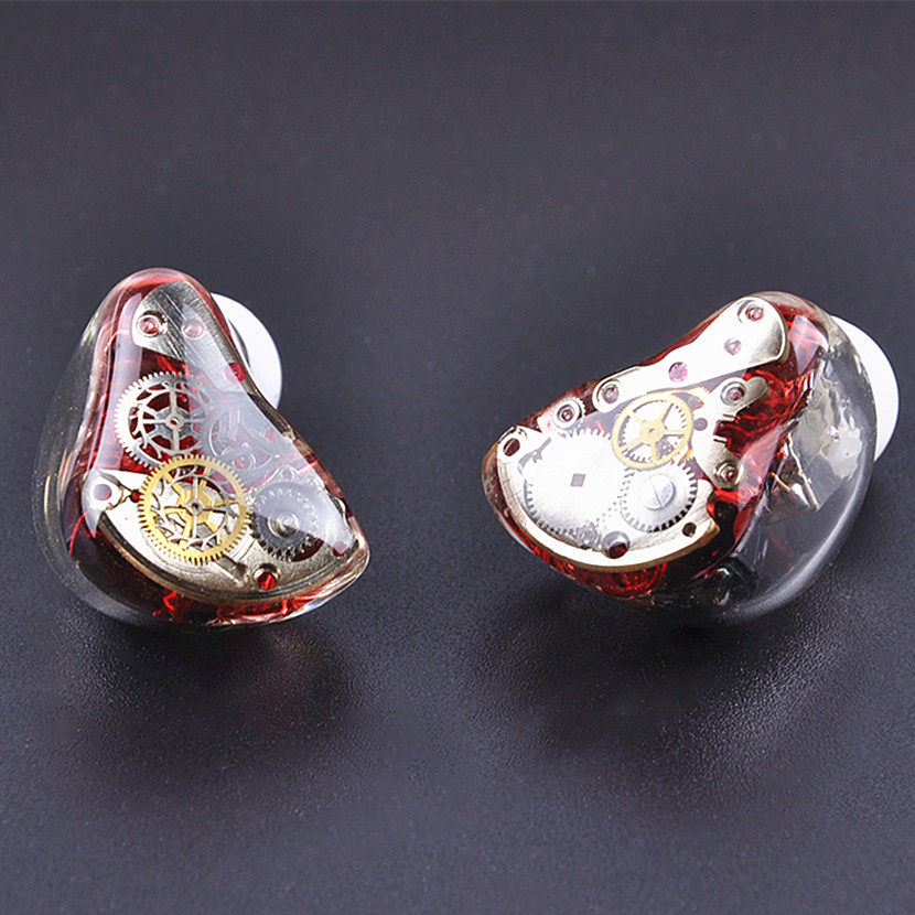 Wooeasy 3BA+1DD Gear in Ear Earphone Custom Made Hybrid Around Ear Earphone With MMCX Plated Earphone