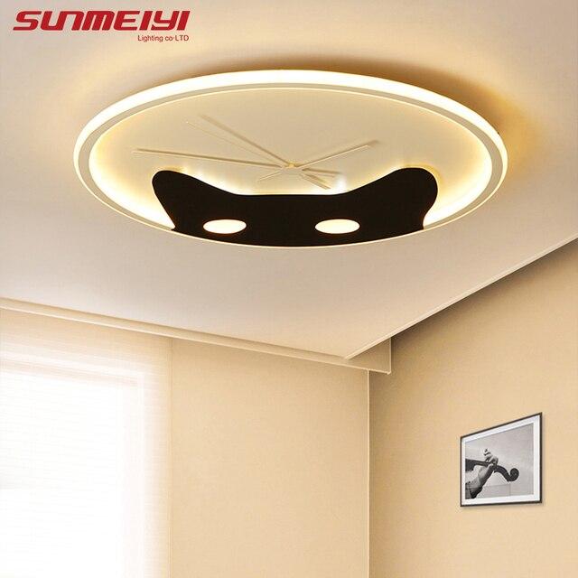 Modern Led Ceiling Lights With Remote Control lamparas salon techo Living room lights Cat design Ceiling Light Fixture avize
