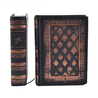 1PC  vintage retro notebooks Embossed plaid PU leather framed note book Agenda diary journal office school supplies