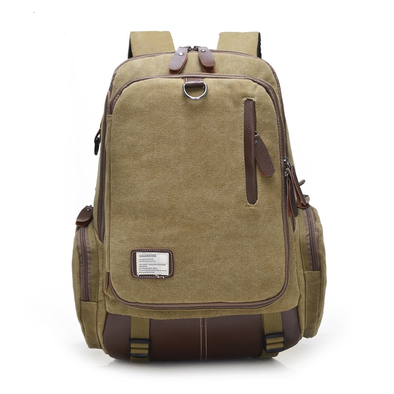 New student backpack large capacity Canvas bag men and women backpack 1247