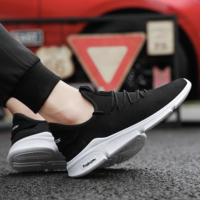 LASPERAL 2019 Casual Men Shoes Summer Sneaker Breathable Casual Mesh Shoes Trend Korean Shoes Men Sweat-Absorbant slip-on shoe