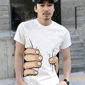 Free shipping 2016 new men's summer style lovers 3D big hand to grab your T-shirt Hot sale