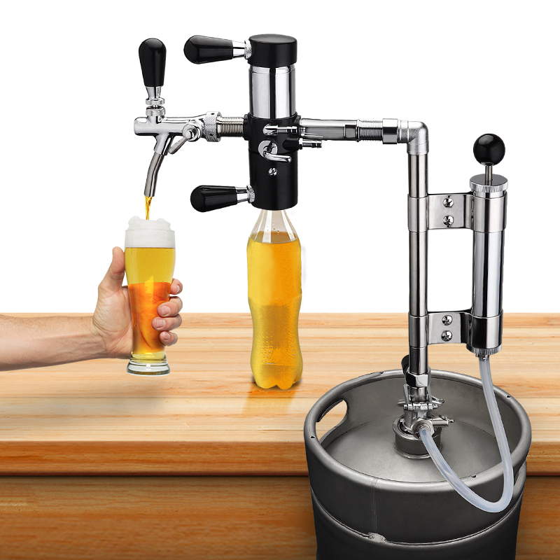 Home Brewing Party Pump With Beer Tap De-foaming Device, 8 Inch Beer Keg Pumps And Beer Bottle Filler Equipment Beer Brew Line