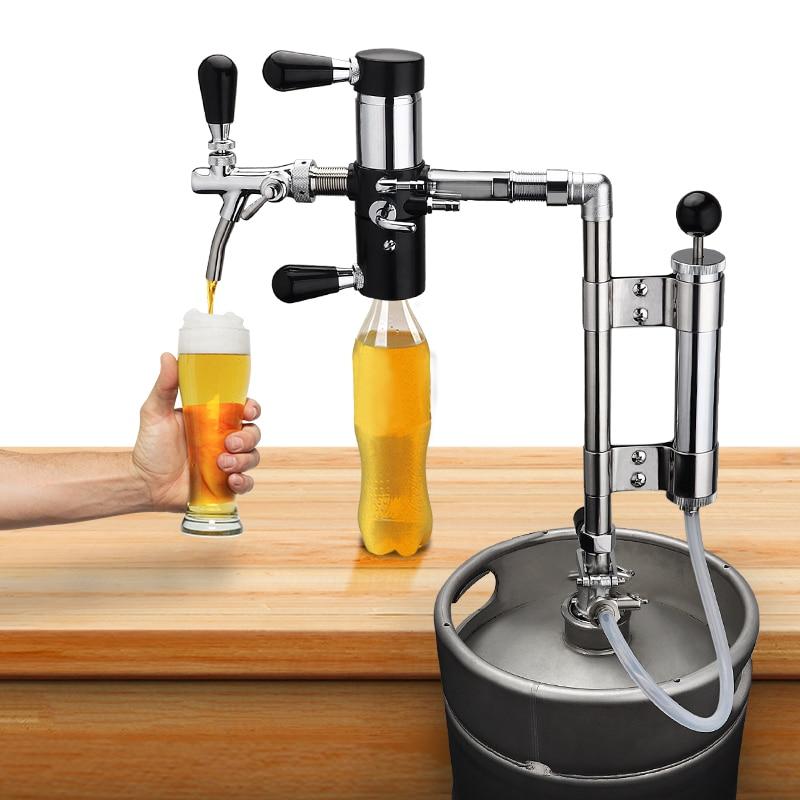 Home Brewing Party Pump With Beer Tap De-foaming Device, 8 Inch Beer Keg Pumps And Beer Bottle Filler Equipment Beer Brew Line