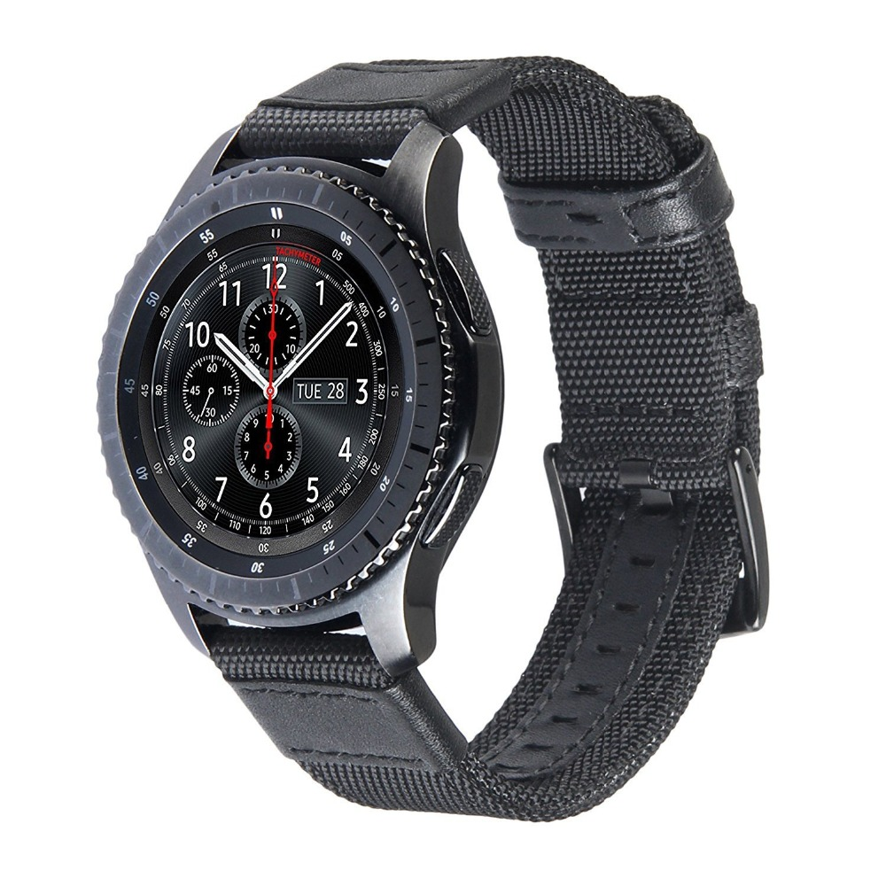 V-Moro 22mm Premium Woven Nylon Replacement Strap Wrist band For Samsung Gear S3 Classic Gear S3 Frontier Sports смарт часы samsung gear s2 black