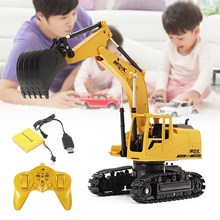 New Arrival AO HAI 1/24 2.4Ghz 8CH Die-cast Remote Excavator Engineer Truck Car Toys Gift Present