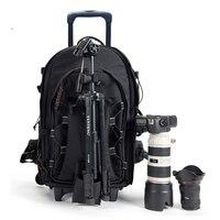BeaSumore Плечи сумка на колесиках для путешествий рюкзак для фотоаппарата Высокая емкость прокатки багажа ударопрочный большой каюта чемодан
