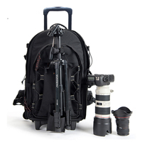 BeaSumore Shoulders Travel bag Trolley Photography Backpack High Capacity Rolling Luggage Shockproof Large Cabin Suitcase Wheels