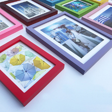 Minimalist Wood Photo Frame Wall Hanging Art Decor Table Pictures Kids Birthday Gifts Home