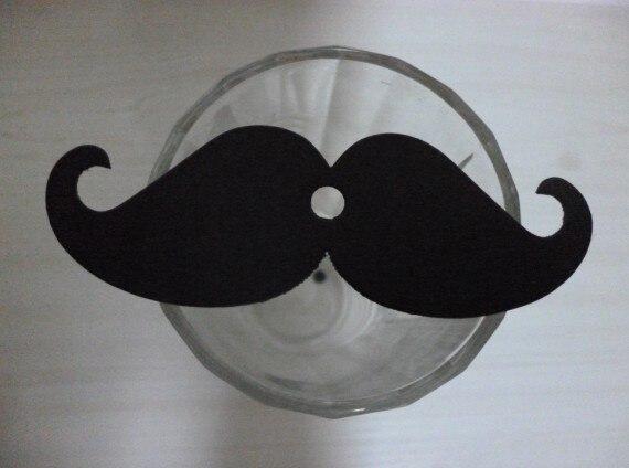 500PCS LOT Black Mustache With 0 6cm Hole Paper Made Decoration Photo Props Paper Straws Decoration