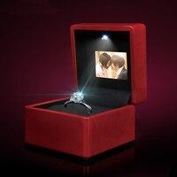 Video Display Screen Music Ring Box LED Ring box wedding pendant necklace box ring box Video play
