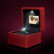 Video Display Screen Music Ring Box LED Ring box wedding pendant necklace box ring box Video play
