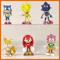 6 pcs X Sonic the Hedgehog Figura Coleção Toy boneca Presentes