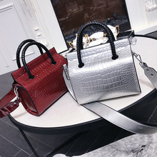 Miyahouse Alligator Pattern Shoulder Bag For Women Solid Color Luxury Messenger Bag For Female PU Leather Crossbody Bag Lady
