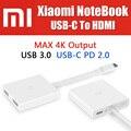 Zjq01tm original tipo c a hdmi adaptador cable 4 k de salida usb para xiaomi mi notebook, mi teléfono, mipad, para macbook usb 3.0, pd 2.0