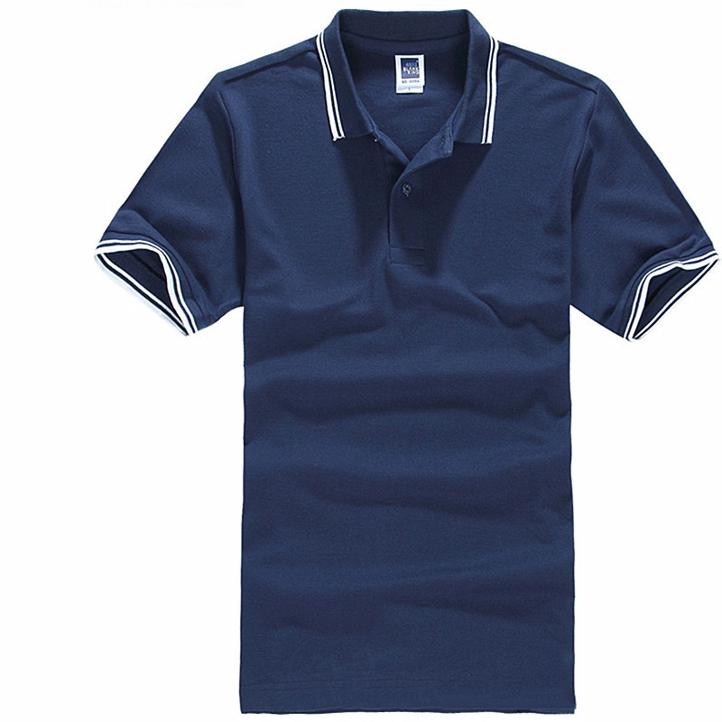 Hot 2017 new brand mens polo shirt for men cotton short for Business casual polo shirt