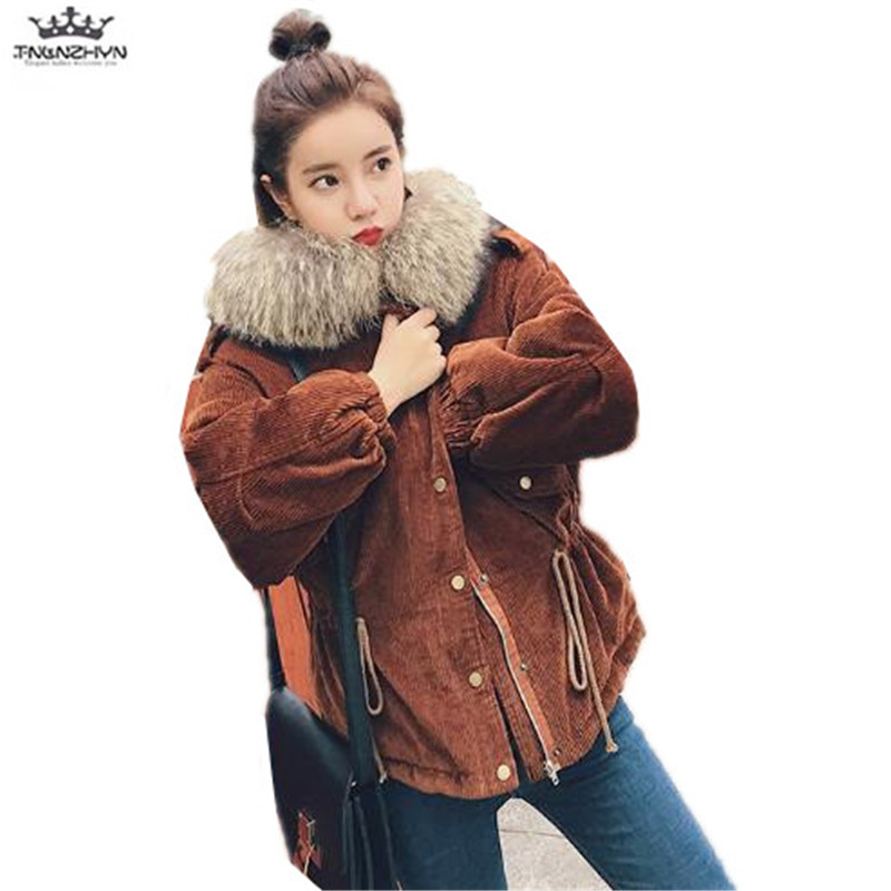 tnlnzhyn 2017 New Winter Women Coat Fashion Large Real Fur Collar Down Cotton Jacket Thick Hooded Winter Down Jacket Y785 tnlnzhyn 2017 new winter pregnant women jacket thick fur collar hooded down cotton coat fashion warm maternity coats y626