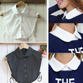 Hot Women Clothes Shirt False Collar White&Black Blouse Vintage Detachable Collars for Women Wear tops