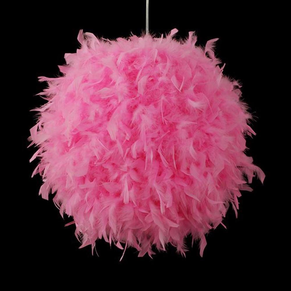 Modern Pendant Light Romantic Ball Shape Feather Hanging Lamp Lamparas Lustre ernie ball extra light nickel wound струны для электрической гитары 10 50