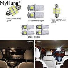 Удобство лампы для автомобиля Toyota Prado внутренняя подсветка C10W W5W Замена лампы фар свет яркий белый 8 шт. в комплект