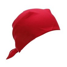MYTL-Fancy Plain Bandana 100% Cotton Head Neck Wrist Wrap Neckerchief Scarf 12 Color Colour:Red