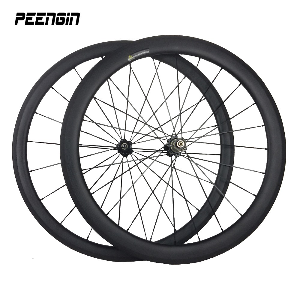 Velocity Full carbon 700C mixed wheel set 23mm width 38mm+50mm depth clincher carbono road/triathlon/touring bicycle rim wheels