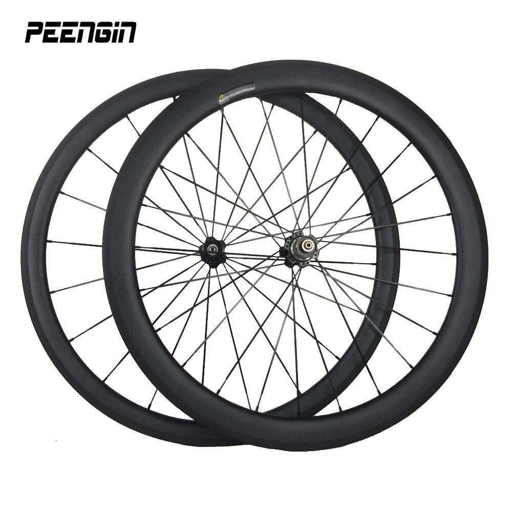 Velocity Full Carbon 700C Mischradsatz 23mm Breite 38mm + 50mm Tiefe - Radfahren - Foto 1
