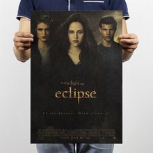 Free shipping,The twilight saga3/Kristen Stewart classic movie/kraft paper/bar poster/Retro Poster/decorative painting 51x35.5cm(China)