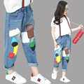 Niñas Pantalones de Mezclilla de Verano Niños de Los Pantalones Vaqueros Pantalones Leggings Bebé Pantalones Patchwork Primavera Ropa Niños Niñas Otoño Pantalones Sueltos