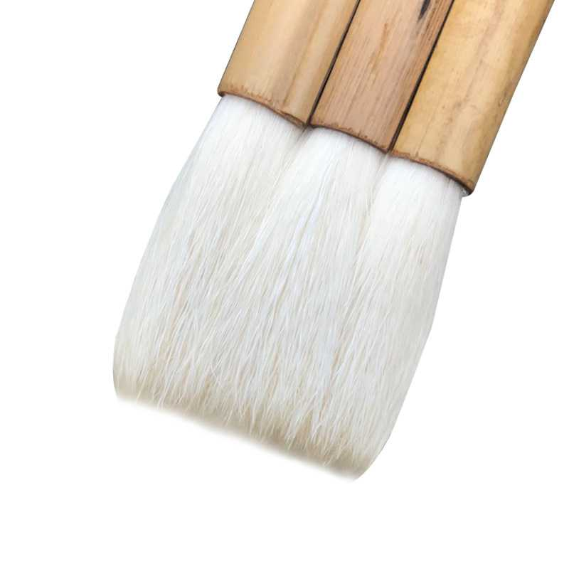 Wool Brush Bamboo Rod Independent Hair Thickening Bottom Watercolor Gouache Oil painting Brushes Set Art Supplies 2pcs set chinese painting book album of zheng banqia bamboo orchid master brush ink art