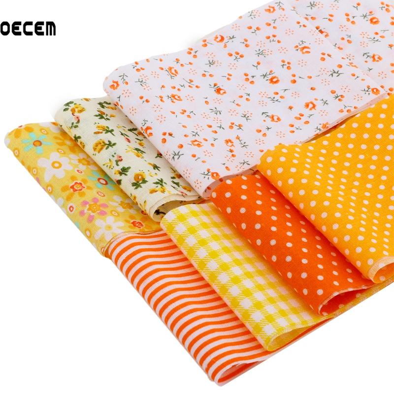 Popular orange striped fabric buy cheap orange striped fabric lots from china - Lot de tissu patchwork ...