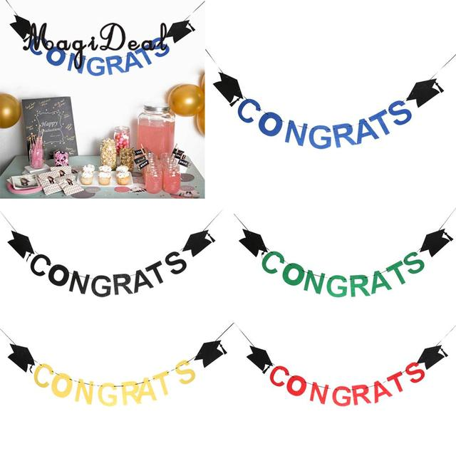 Magideal congrats letters graduation cap felt banner celebration magideal congrats letters graduation cap felt banner celebration graduation party decoration altavistaventures Gallery